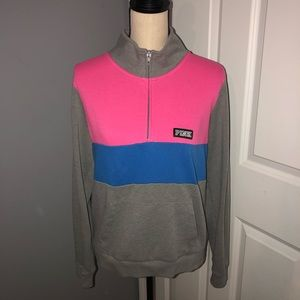 PINK Victoria's Secret Color Block Half Zip